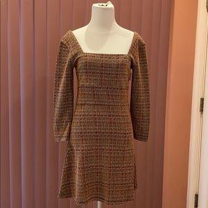 3/4 sleeve Fit n Flare mini dress